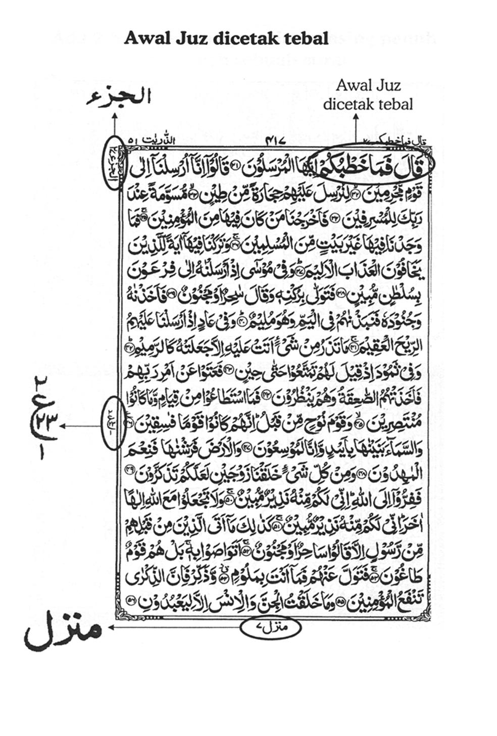 Numerik Al Quran Ciri Ciri Al Qur An Format 18 Baris